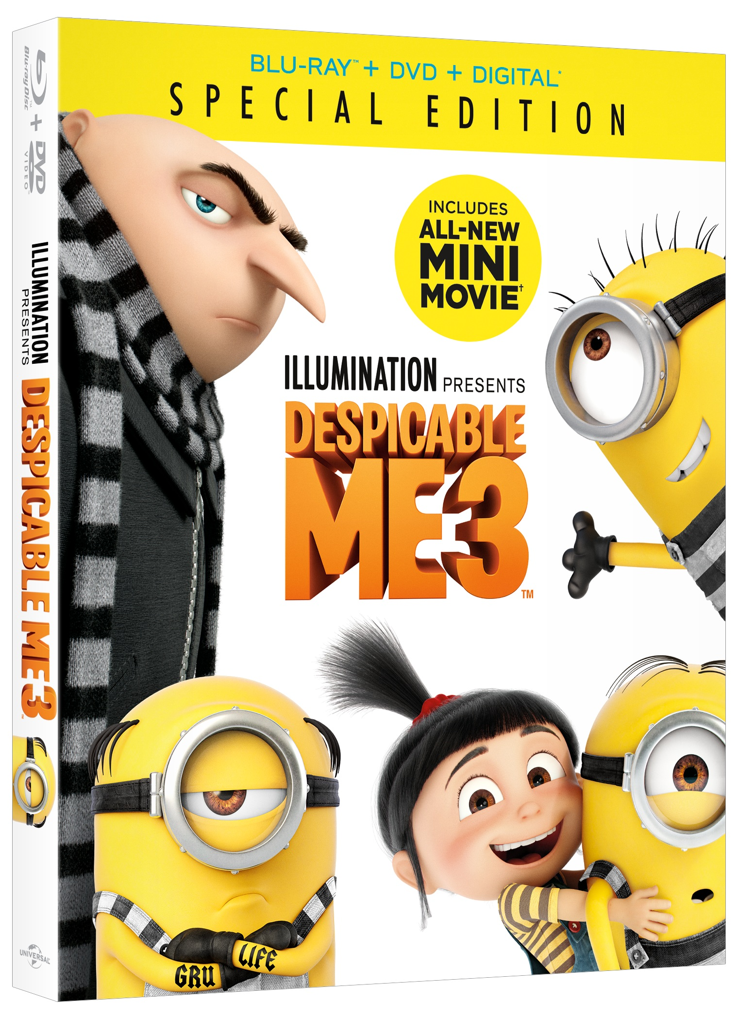 2017 Despicable Me 3 Special Edition Blu-Ray